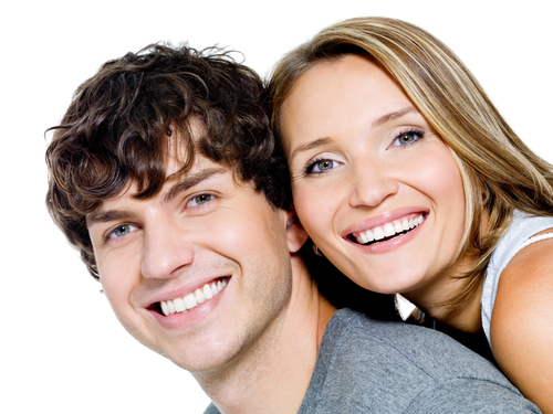couple after cosmetic dental treatment